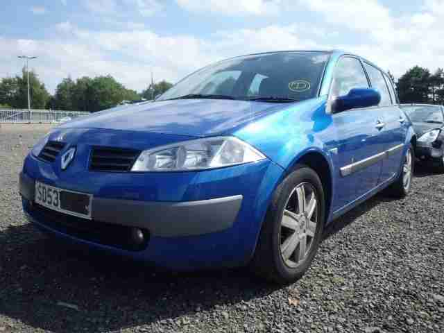 renault 2003 53 megane dynamique 1 6 16v blue car for sale. Black Bedroom Furniture Sets. Home Design Ideas