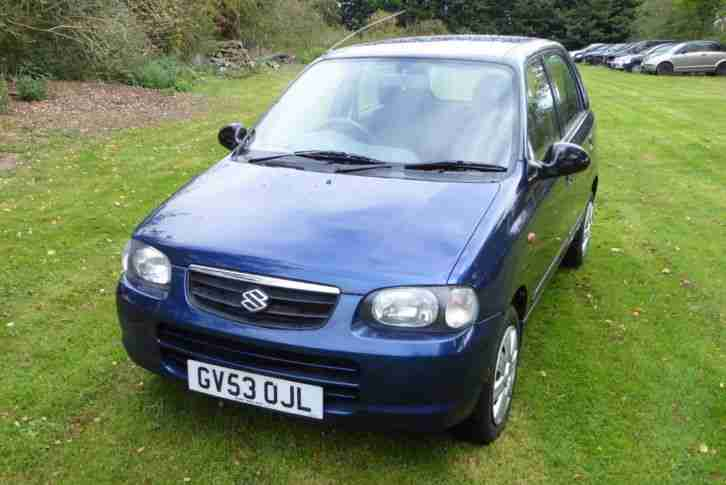 2003(53) Suzuki Alto 1.1 GL 5dr, only 11,000 miles Superb Condition £30 Road Tax