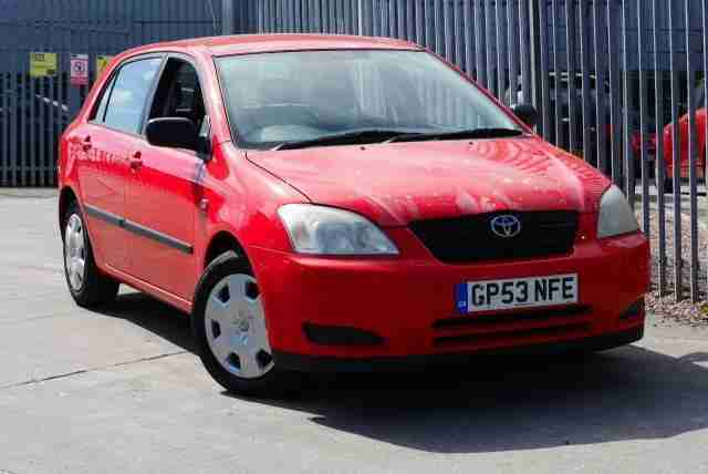 2003 53 TOYOTA COROLLA 1.4 T2 VVT i 5 DOOR IN RED