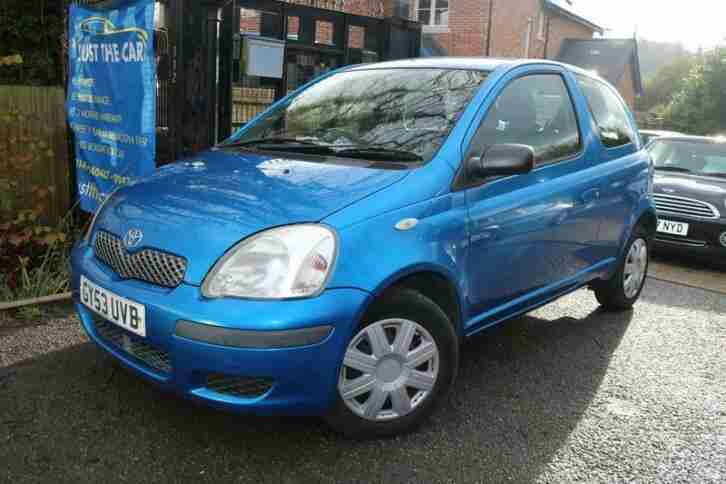 2003 (53) Toyota Yaris 1.0 VVTI T3 Blue 3 Door Long MOT Great First Car