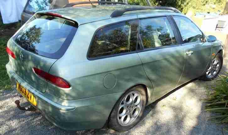 alfa romeo 2003 156 jtd sportwagon 2 4 diesel lusso green car for sale. Black Bedroom Furniture Sets. Home Design Ideas
