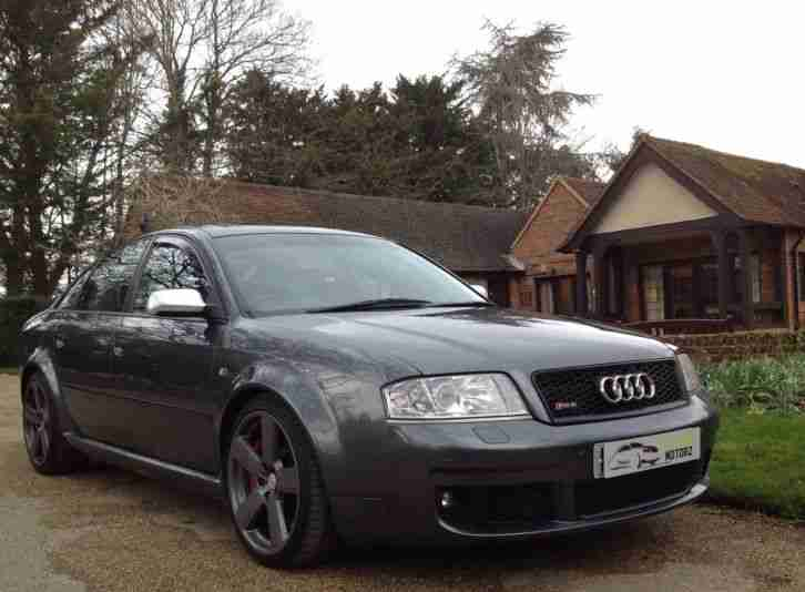 2003 AUDI RS6 SALOON 4.2V8 BI-TURBO QUATTRO GREY 444BHP £14K OF FACTORY EXTRAS