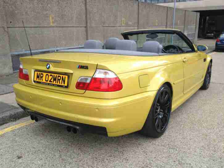bmw 2003 m3 convertible hardtop smg auto yellow car for sale. Black Bedroom Furniture Sets. Home Design Ideas