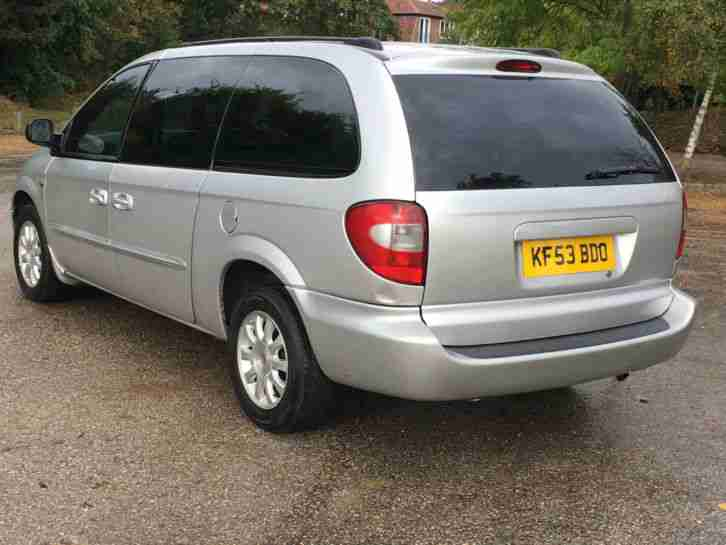 2003 CHRYSLER GRAND VOYAGER CRD LX DIESEL 7 SEATS MARCH 2017 MOT JUST SERVICED