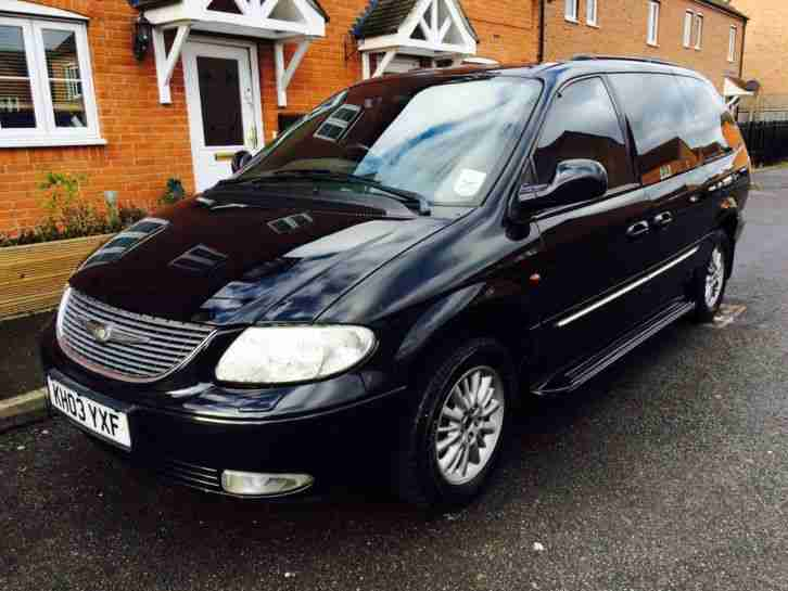chrysler  grand voyager  xs crd  diesel black  seats