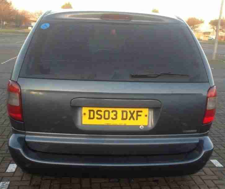 2003 CHRYSLER VOYAGER 7 SEATER 2.5 DIESEL MPV ONLY 113K 5 MOT STARTS DRIVES NICE