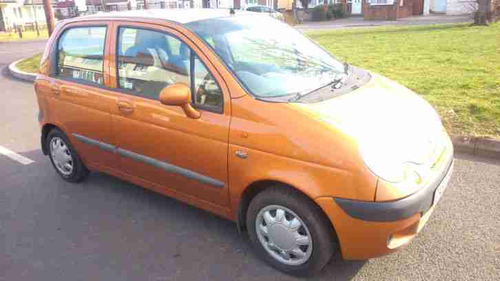2003 DAEWOO MATIZ SE+ ORANGE MOT END MAY 2015 VERY LOW MILEAGE