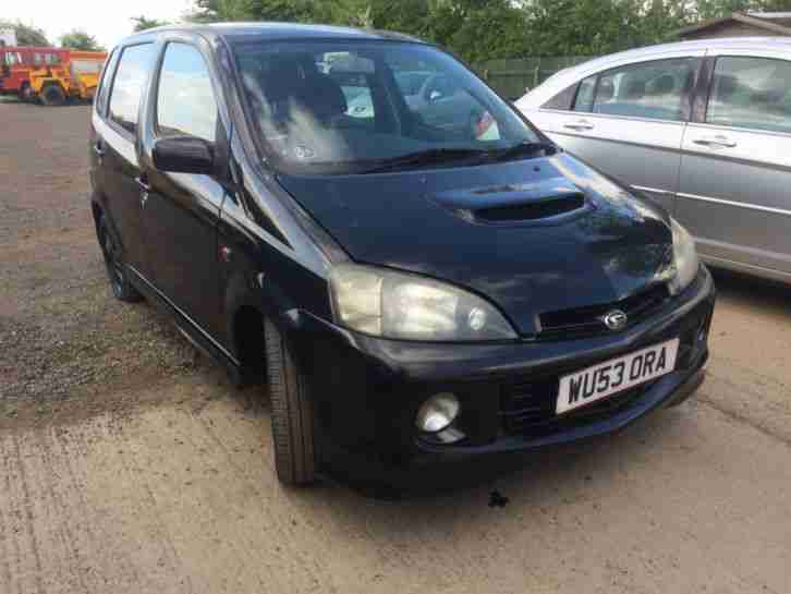 Daihatsu 2003 Yrv Turbo 130 Auto Black Spares Or Repairs Rare Car