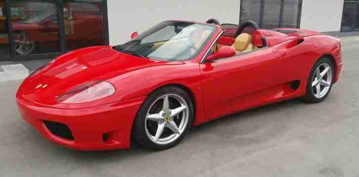 2003 FERRARI 360 SPIDER F1 RED LHD
