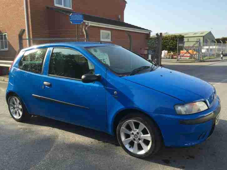 fiat 2003 punto active sport blue car for sale. Black Bedroom Furniture Sets. Home Design Ideas