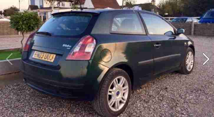 2003 FIAT STILO 16V DYNAMIC GREEN VERY LOW MIILES