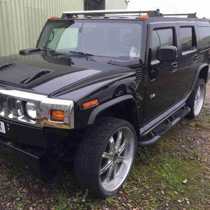 Hummer 2003 H2 BLACK DAMAGED REPAIRABLE SALVAGE. Car For Sale