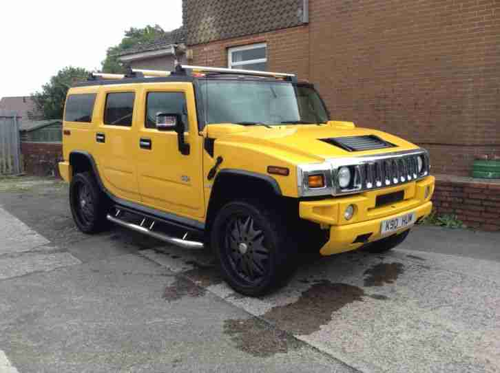 Hummer 2003 Yellow Car For Sale