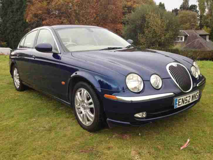 jaguar 2003 s type v8 se auto blue totally stunning car. Black Bedroom Furniture Sets. Home Design Ideas