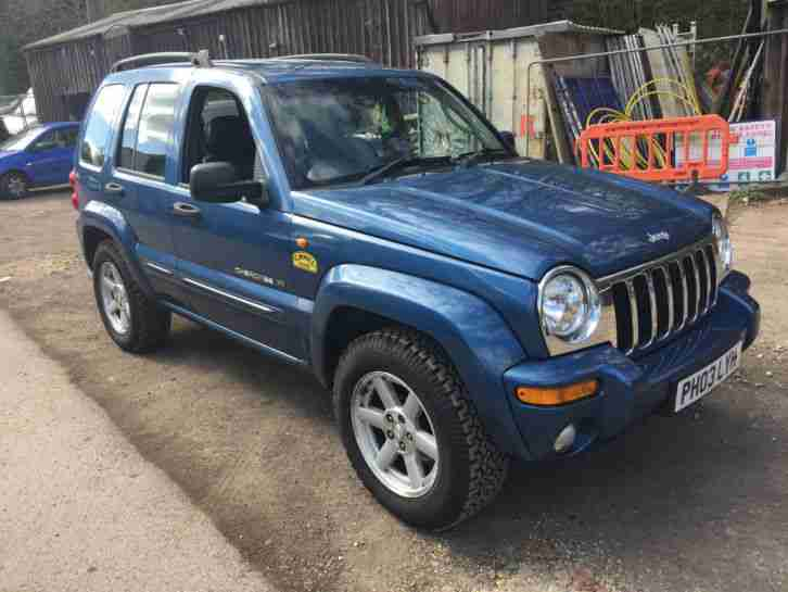 jeep 2003 cherokee limited 2 8 crd auto blue car for sale. Black Bedroom Furniture Sets. Home Design Ideas
