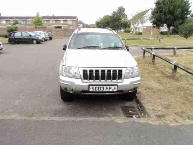 2003 JEEP GR CHEROKEE CRD OV-LAND A SILVER