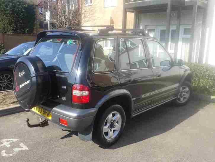 2003 KIA SPORTAGE XSE AUTO BLACK, HPI CLEAR, SPARES OR REPAIRS, GEARBOX ISSUE
