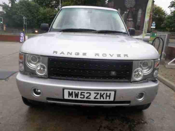 2003 land rover range rover vogue td6 auto silver 22 alloys spares or. Black Bedroom Furniture Sets. Home Design Ideas