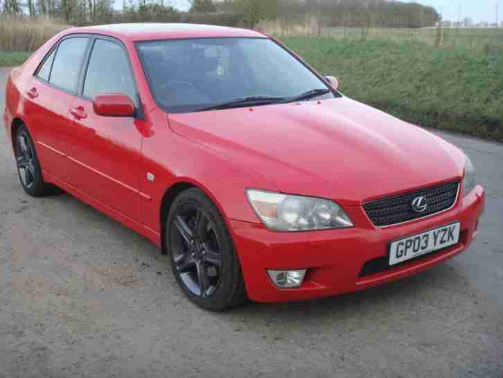 lexus 2003 is 200 sport red automatic 2 0 petrol leather sat nav car for sale. Black Bedroom Furniture Sets. Home Design Ideas