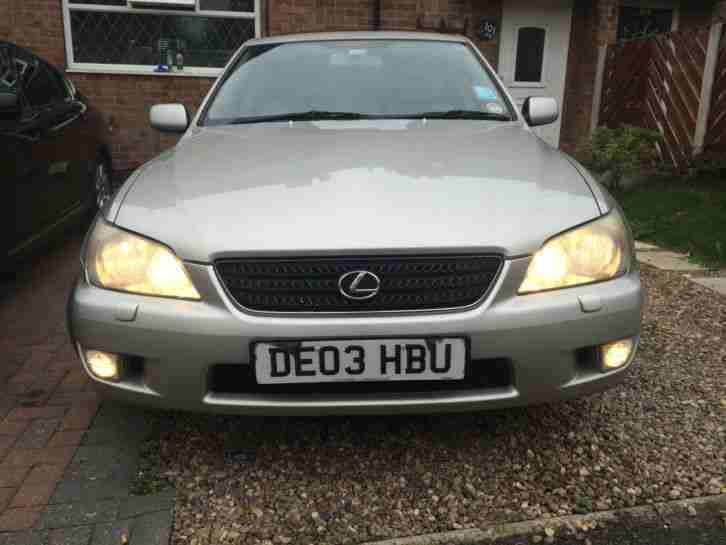 2003 LEXUS IS200 SILVER, MINT CONDITION 95K MILEAGE, 6 GEAR MANUAL TRANSMISSION.