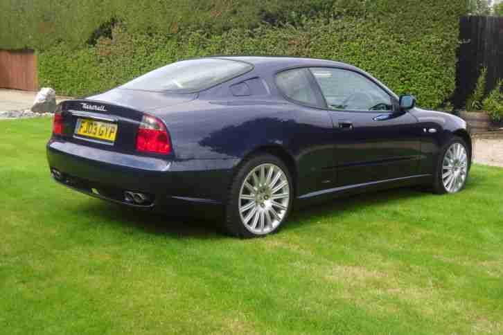maserati 2003 coupe gt 4200 rare manual blue cream interior. car for