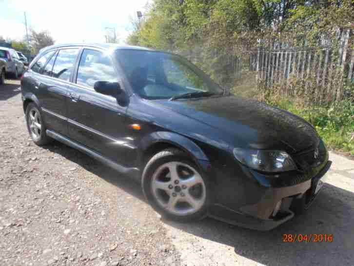 2003 MAZDA 323 BLACKM.O.T FEBRUARY 2017, FOR SPARES OR REPAIR