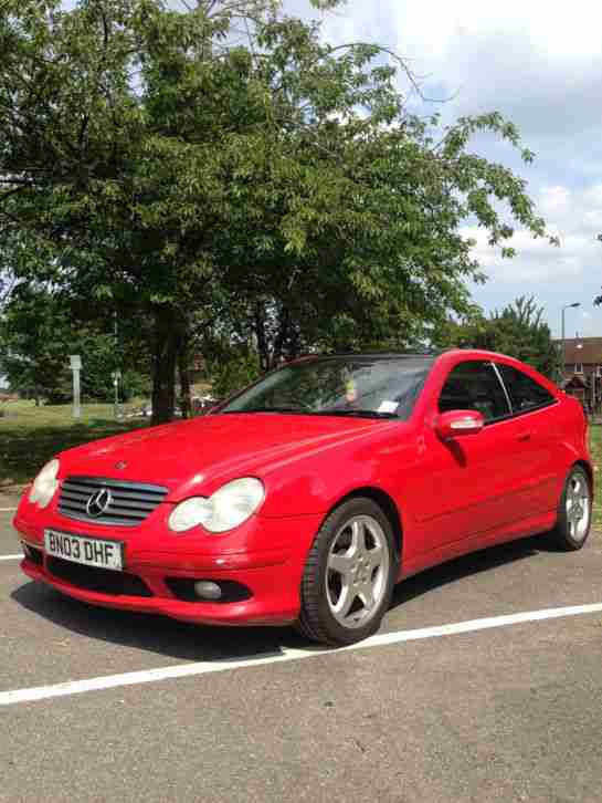2003 mercedes c230 kompressor se red automatic tax mot fsh no reserve. Black Bedroom Furniture Sets. Home Design Ideas