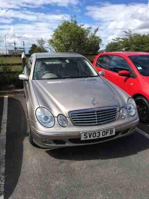 MERCEDES E320. Mercedes-Benz car from United Kingdom