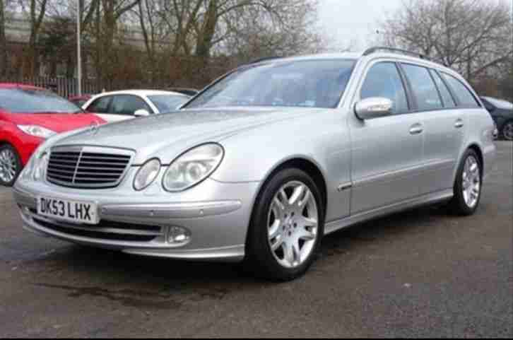 2003 mercedes e320 cdi estate avantgarde auto silver black leather. Black Bedroom Furniture Sets. Home Design Ideas