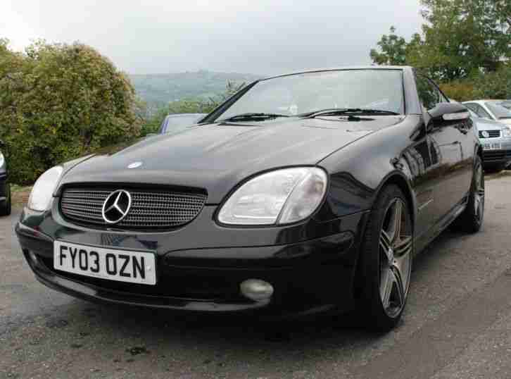 2003 mercedes slk 200 kompressor auto black leather interior car for sale. Black Bedroom Furniture Sets. Home Design Ideas