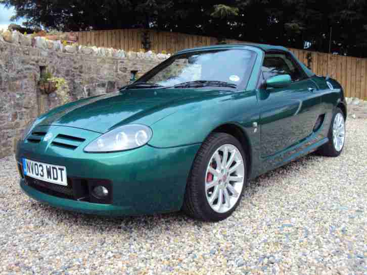 2003 MG TF 135 SPRINT GREEN HARD AND SOFT TOPS ONLY 44K WITH FSH & 12 MONTHS MOT