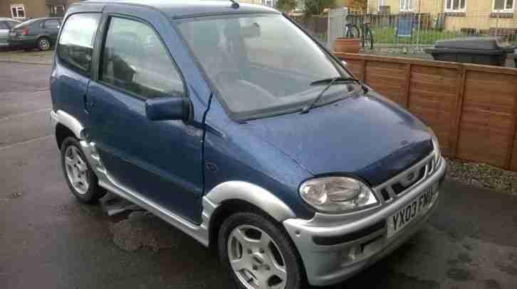 2003 microcar virgo prestige hse auto blue silver car for sale. Black Bedroom Furniture Sets. Home Design Ideas