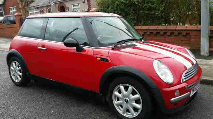 Mini Cooper S Red With White Stripes Pictures To Pin On