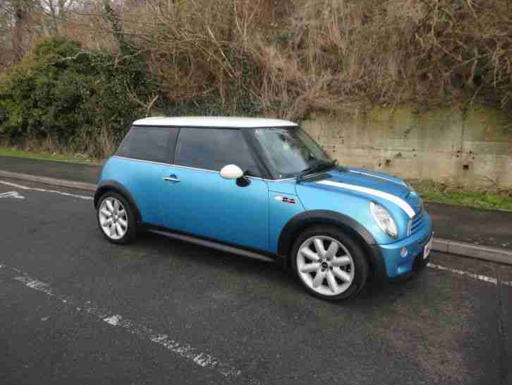 mini 2003 cooper s blue car for sale. Black Bedroom Furniture Sets. Home Design Ideas