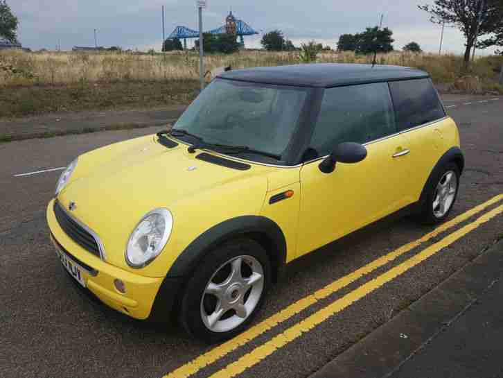 Mini 2003 One Yellow Very Tidy Car Mot Feb 2017 Great Condition