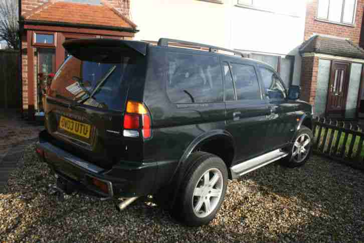 2003 MITSUBISHI SHOGUN SPORT WARRIOR 2.5 TURBO DIESEL BLACK SPARES OR REPAIRS