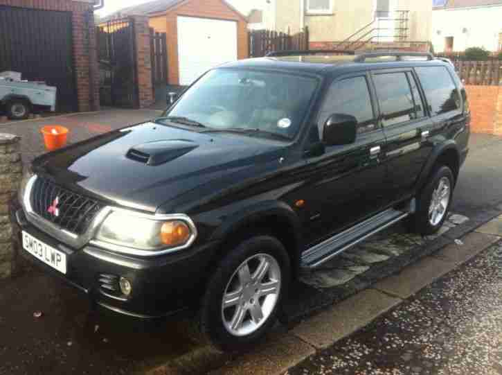 2003 MITSUBISHI SHOGUN SPORT WARRIOR TD BLACK swap with in ebay rules
