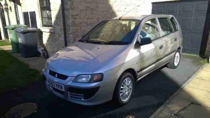 2003 MITSUBISHI SPACE STAR 1.3 MIRAGE 1 previous owner low mileage may Px