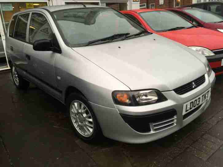 2003 MITSUBISHI SPACE STAR MIRAGE SILVER SUPER LOW MILEAGE 1 YEAR MOT