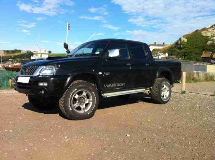 Mitsubishi 2003 L200 Warrior Black Pick Up Truck Mot Tax Ready For