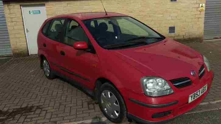 nissan 2003 almera tino s red car for sale. Black Bedroom Furniture Sets. Home Design Ideas