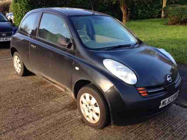 nissan 2003 micra e black 72 000 miles car for sale. Black Bedroom Furniture Sets. Home Design Ideas