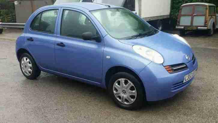 nissan 2003 micra s auto blue full mot car for sale. Black Bedroom Furniture Sets. Home Design Ideas