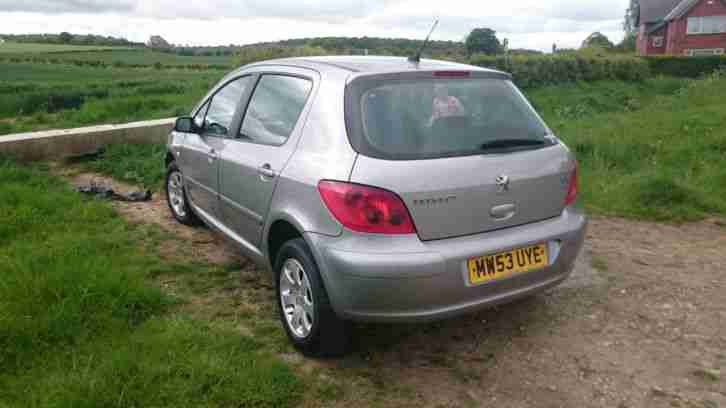 2003 PEUGEOT 307 S HDI GREY only £30 tax