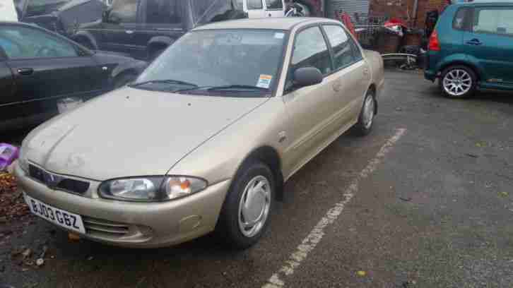 2003 PROTON WIRA LXI GOLD PETROL WITH LPG GAS CONVERSION.