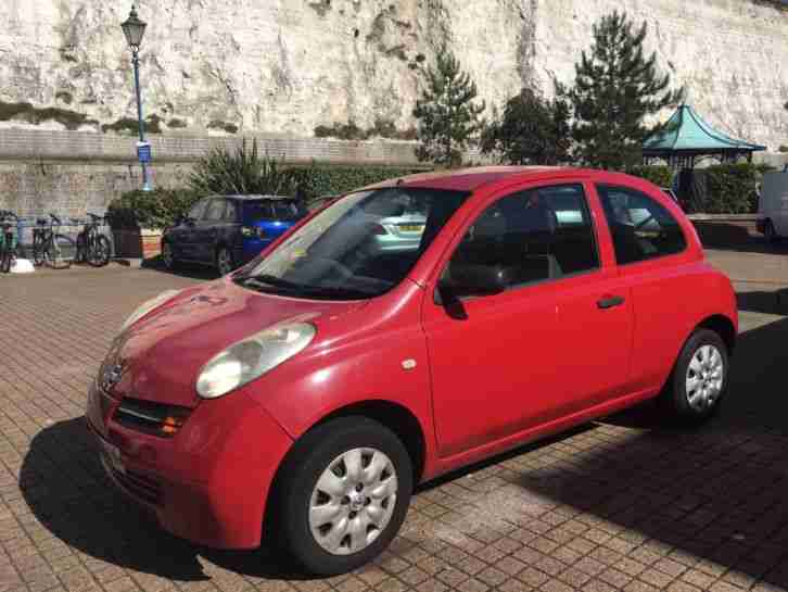 nissan 2003 red micra 3 door hatchback 1240cc needs repair mot to. Black Bedroom Furniture Sets. Home Design Ideas