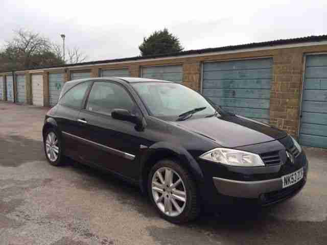 renault 2003 megane dynamique dci 120 black spares or repair car for sale. Black Bedroom Furniture Sets. Home Design Ideas