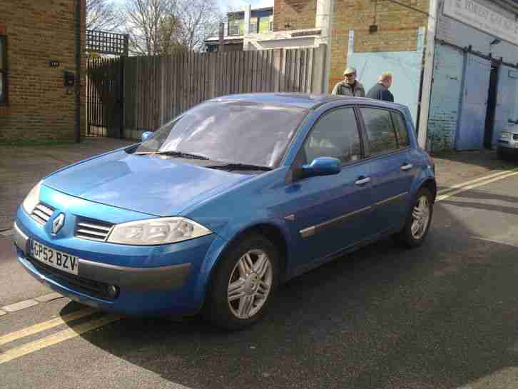 2003 RENAULT MEGANE PRIVILEGE 16V BLUE 75 THOUSAND MILES WELL ABOVE AVERAGE MOT
