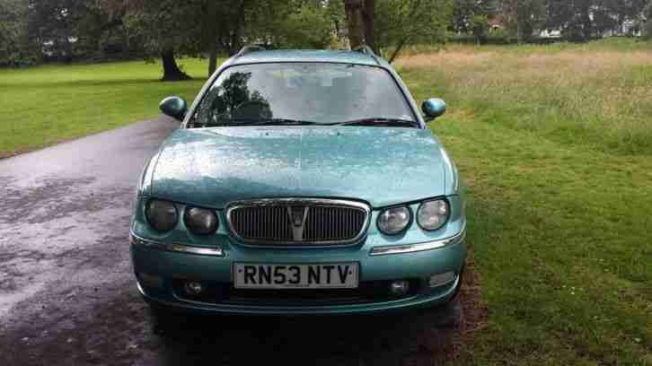 2003 ROVER 75 CLUB SE TOURER BLUE LPG FITTED