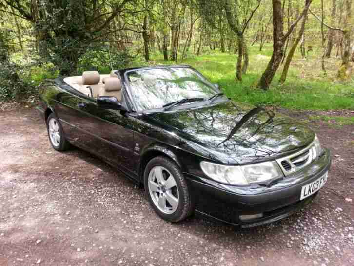 2003 SAAB 9-3 SE TURBO BLACK MANUAL CONVERTIBLE